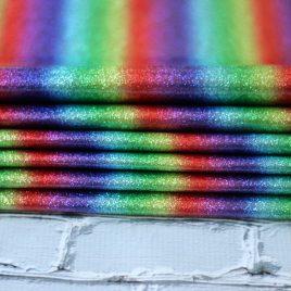 Dark Rainbow Glitter Embroidery Vinyl – Sewing Vinyl – Craft Vinyl