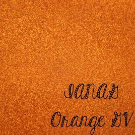 Orange Glitter Vinyl