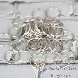 100 Nickel Split Rings