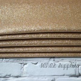 Champagne Glitter Vinyl – Embroidery Vinyl – Sewing Canvas – Craft Vinyl