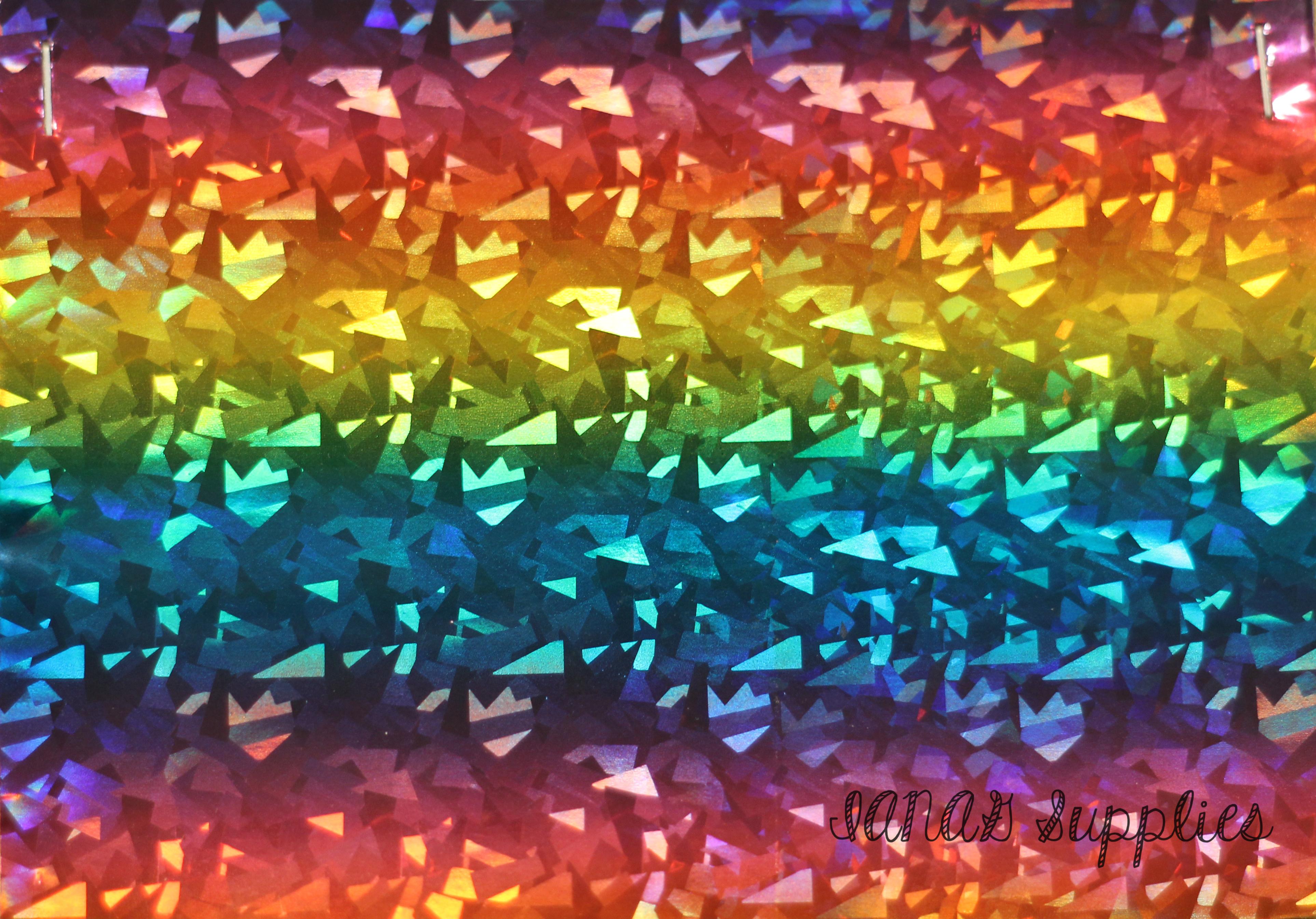 Holographic Rainbow Embroidery Vinyl Sewing Vinyl Craft Vinyl
