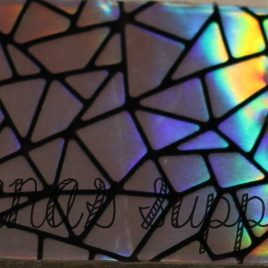 Silver Stained Glass Embroidery Vinyl – Sewing Vinyl – Craft Vinyl