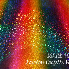 Rainbow Confetti Embroidery Vinyl – Sewing – Craft Vinyl