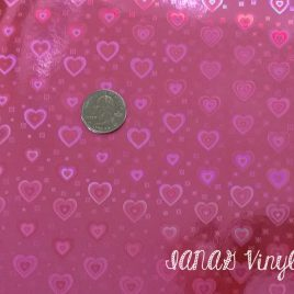 3D Hot Pink Heart Vinyl – Sewing – Embroidery – Craft Fabric