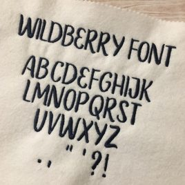 Wildberry Font, 1 inch, 0.75 inch, 0.5 inch, Embroidery Design, Digital File