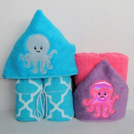 Baby Octopus Applique, Embroidery Design, Digital File