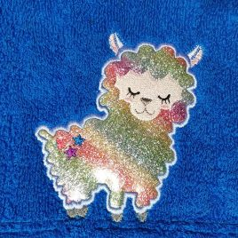 Star Booty Llama, Applique, Embroidery Design, Digital File