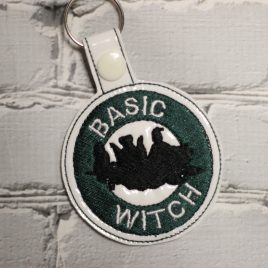 Basic Witch, Hocus Pocus Coffee, Key fob, Snap tab, Eyelet Fob, Embroidery Design, Digital File