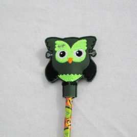 Frankenstein Owl, Halloween Owls, Pencil Toppers, SET, Embroidery Design, Digital File