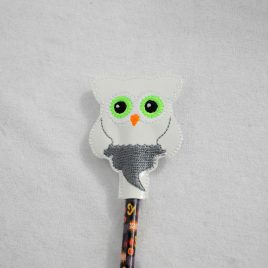 Ghost Owl, Halloween Owls, Pencil Toppers, SET, Embroidery Design, Digital File