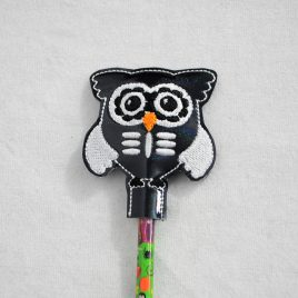 SkeletOwl, Skeleton, Sugar Skull, Halloween Owls, Pencil Toppers, SET, Embroidery Design, Digital File