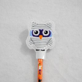 Whoo's Your Mummy, Halloween Owls, Pencil Toppers, SET, Embroidery Design, Digital File