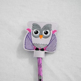 Draculowl, Dracula Owl, Vampire, Halloween Owls, Pencil Toppers, SET, Embroidery Design, Digital File