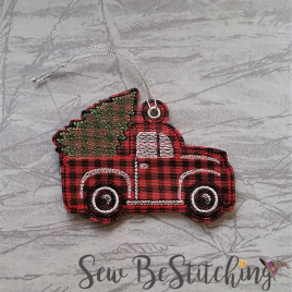 Lil Red Truck Ornament, Embroidery Design, Digital File