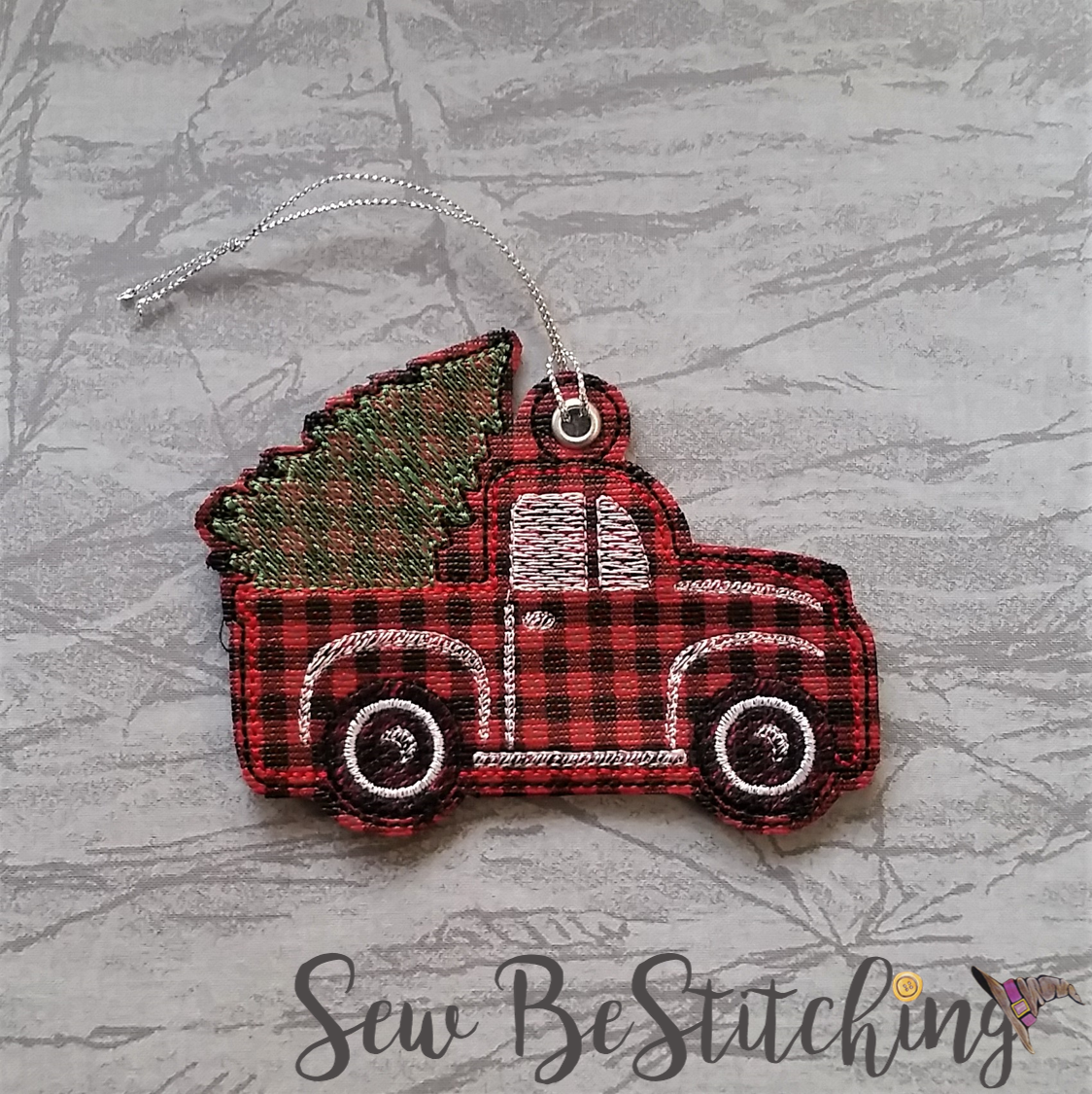 Lil Red Truck Ornament Embroidery Design Digital File I Am Not A Geek Supplies