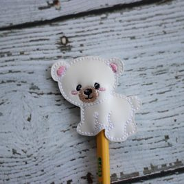 Polar Bear, Pencil Topper, Embroidery Design, Digital File