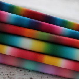 Diamond Dust Rainbow – Sample Set  – Vinyl – Sewing – Embroidery – Craft Fabric