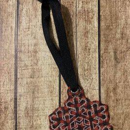 Snowflake Ornament – 4 Sizes, Embroidery Design, Digital File