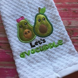 Lets Avocuddle, Applique, Satin Stitches, Embroidery Design, Digital File