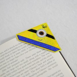 1 Eyed Yellow Helper Corner Bookmarks, Embroidery Design, Digital File