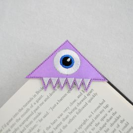 Monster Corner Bookmarks, Embroidery Design, Digital File