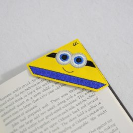 2 Eyed Yellow Helper Corner Bookmarks, Embroidery Design, Digital File