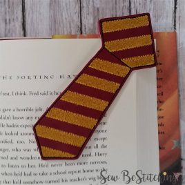 Striped Tie Corner Bookmarks, Embroidery Design, Digital File