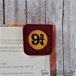 9 and 3 Quarters Corner Bookmarks, Embroidery Design, Digital File