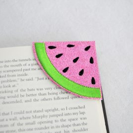 Watermelon Corner Bookmarks, Embroidery Design, Digital File