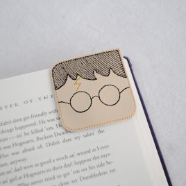 Hp Square Corner Bookmarks, Embroidery Design, Digital File