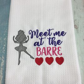 Meet Me At The Barre, Satin Stitches, Embroidery Design, Digital File
