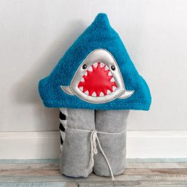 Shark Chomp Peeker, Applique, Satin Stitches, Embroidery Design, Digital File
