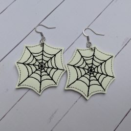Web Earrings – Felties – 3 Sizes, Embroidery Design, Digital File