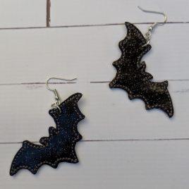 Bat Earrings – Felties – 2 Sizes, Embroidery Design, Digital File