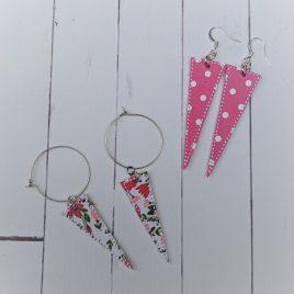 Long Triangle Earrings – Felties – 3 Sizes, Embroidery Design, Digital File