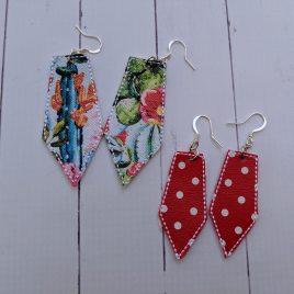 Long Pentagon Earrings – Felties – 3 Sizes, Embroidery Design, Digital File