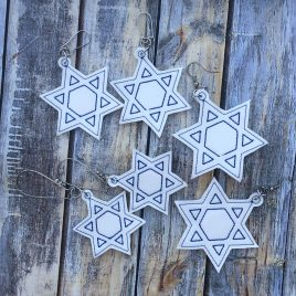 Star of David Earrings – Sizes, Embroidery Design, Digital File