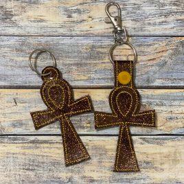 Ankh, Keyfobs, Embroidery Design, Digital File