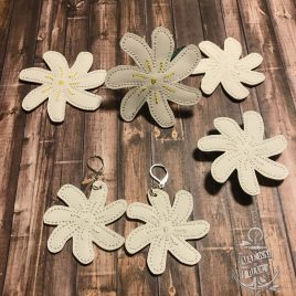 Tiare Flower Earrings/Felties – 3 Sizes, Embroidery Design, Digital File