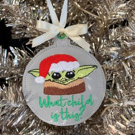 What Child Is This Bauble, Baby Jedi Master, Embroidery Design, Digital File