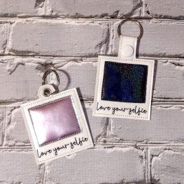 Love your Selfie Polaroid, Keyfobs, Embroidery Design, Digital File