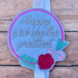 Happy Girls, Planner Band/Book Band, Embroidery Design, Digital File