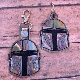 Mando Helmet, Keyfobs, Embroidery Design, Digital File