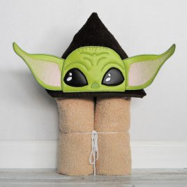 Baby Jedi Master Peeker, Applique, Satin Stitches, Embroidery Design, Digital File