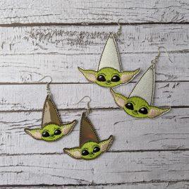 Baby Y Teardrop Earrings – 2 Sizes, Embroidery Design, Digital File