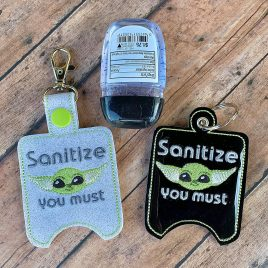 Baby Y, Sanitizer Holders, ITH, Embroidery Design, Digital File