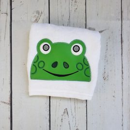 Frog  Peeker, Applique, Satin Stitches, Embroidery Design, Digital File