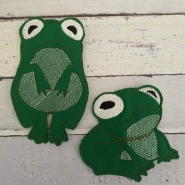 Frog Large Felties, Embroidery Design, Digital File