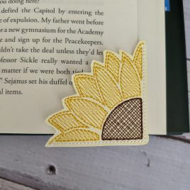 Sunflower Corner Bookmarks, Embroidery Design, Digital File