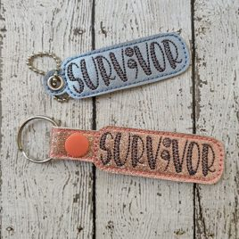 Survivor, Semicolon, Suicide Awareness, Keyfobs, Embroidery Design, Digital File